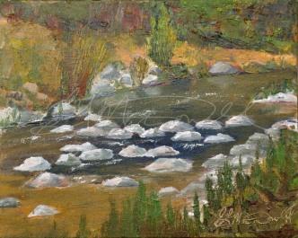A River Runs Through Kincardine. Plein Air 8 x 10 Oil on panel Gifted