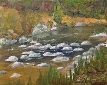 A River Runs Through Kincardine. Plein Air 8 x 10 Oil on panel Gifted