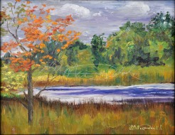 Turning, 8 x 10 Oil on board in Private collection Paint Dexter Plein Air Festival Sold!