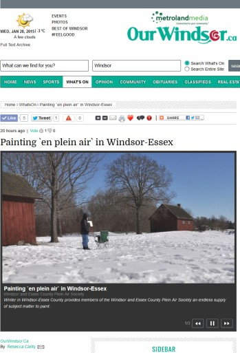 Online Magazine Our Windsor Jan 27, 2015