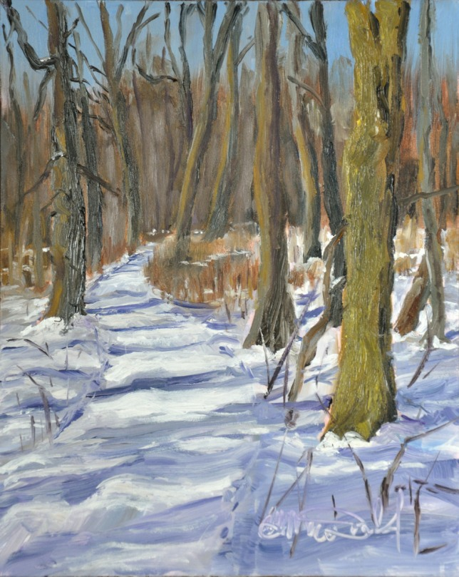 Title: Well travelled Path. Location: Ojibway 8 x 10 framed $275.