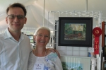 Kenneth Cadwallade President Oil Painters of America and Elizabeth quick paint 2nd place Win at Dexter Mi 2014