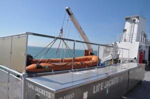 Life jackets ... check Life boat ... check